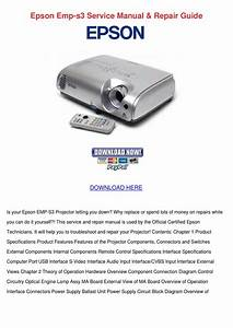 Epson Emp S3 Service Manual Repair Guide By Lenorelanham