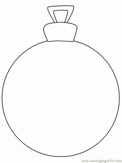 Ornament Coloring Christmas Pages Pdf Coloringpages101
