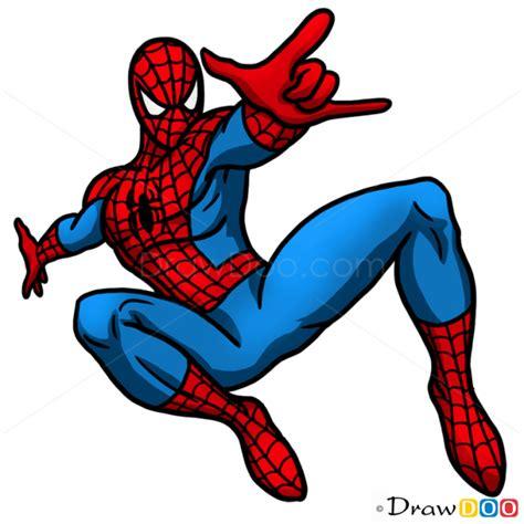 draw spider man superheroes