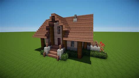 Minecraft Holzhaus Bauen Tutorial [haus 47] Youtube