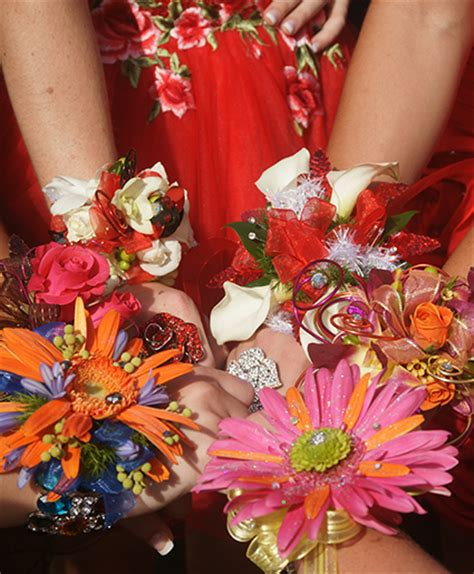 array of prom corsages prom flowers in winter springs fl