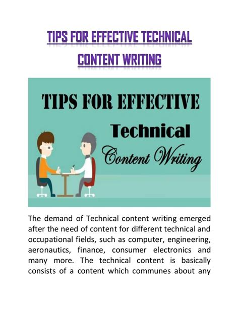 tips for writing an effective tips for effective technical content writing