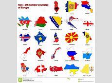 Non EU Countries Flag Maps Stock Illustration Image