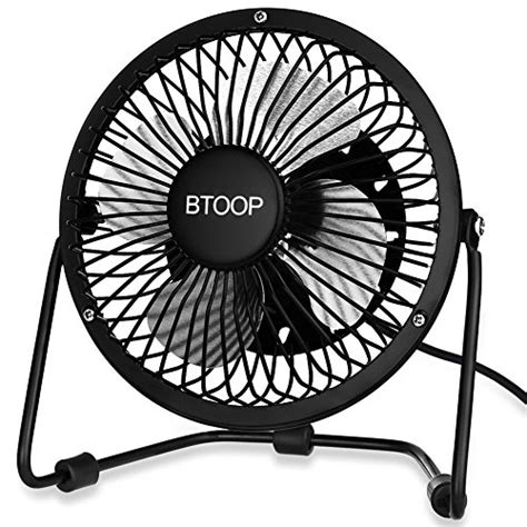 btoop usb desk fan mini personal fan large air flow metal