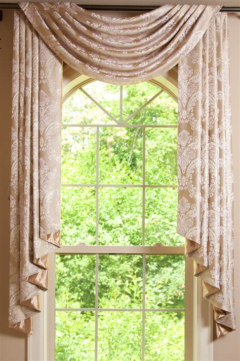 curtains valances and swags gold swag valance drapes