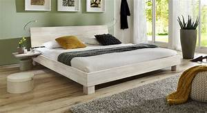 Doppelbett Weiß Holz : elegantes doppelbett aus massiver buche lesina i ~ Indierocktalk.com Haus und Dekorationen
