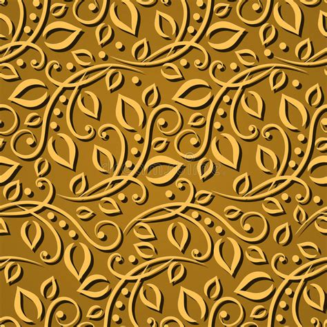 3d Wallpaper Texture Seamless by Seamless Pattern Gold Leaves Texture For