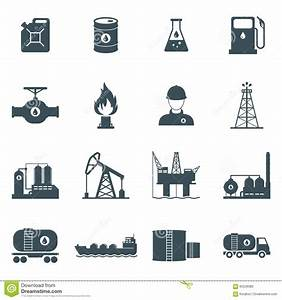 Oil and gas icon set stock vector. Image of oilman, fuel ...