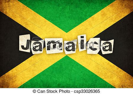 Jamaica, grunge, texto, ilustração, bandeira, país ...