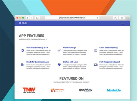 The Best Premium Mateial Website Templates by 30 Best Free And Premium Bootstrap Html5 Responsive