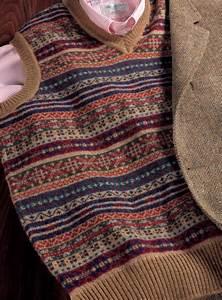 Light Cardigan Sweater Lambswool Fair Isle Sweater Vest In