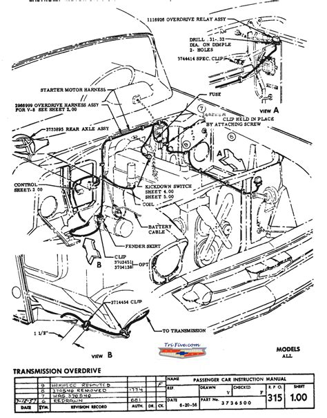 1956 Chevy Overdrive Wiring by Definite Facts 57 Overdrive Transmissions Trifive