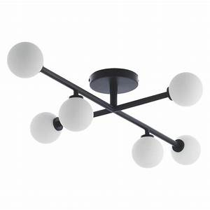 Astrid black and white metal glass ceiling light buy