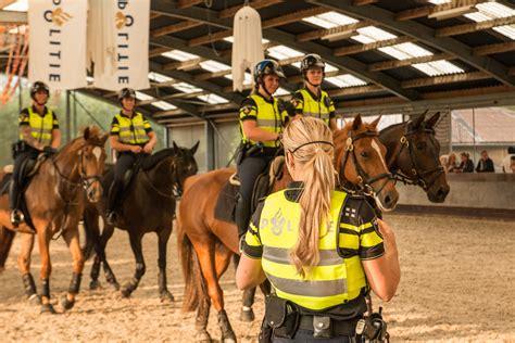 beeld open avond bij bereden politie horsesnl