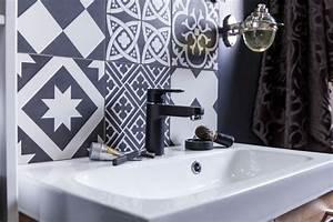 Credence Lavabo Salle De Bain : carrelage salle de bain un shopping tendance pour la r nover c t maison ~ Dode.kayakingforconservation.com Idées de Décoration
