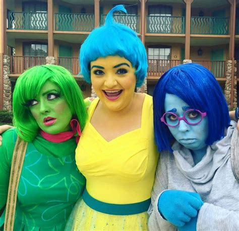 Inside out cosplays Disney princess costumes Movie
