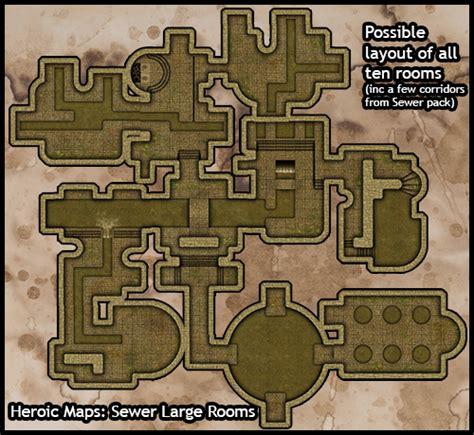 Making 3d Dungeon Tiles by Heroic Maps Modular Kit Sewer Large Rooms Heroic Maps