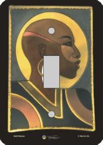 niyaecom bald woman african american switch plate cover