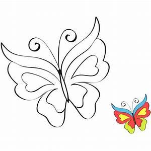 Dessin Facile Papillon : papillons a colorier en modeles papillons colorier ~ Melissatoandfro.com Idées de Décoration