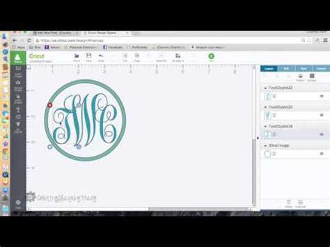 monogram  cricut explore youtube