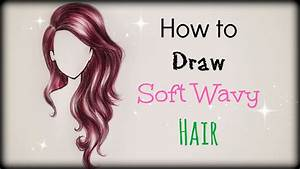 Drawing Tutorial How to draw and color Soft Wavy Hair ...
