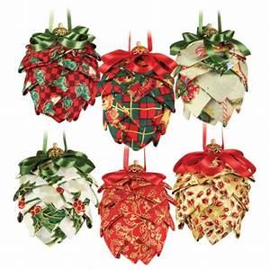 Christmas Fabric Pine Cones
