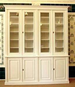 Bücherregal Mit Türen Weiß : b cherschrank in wei aus massivholz mit glast ren hbt 250x200x48cm ebay ~ Bigdaddyawards.com Haus und Dekorationen