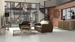 Deco Murale Industrielle : chambre ado style industriel ~ Teatrodelosmanantiales.com Idées de Décoration