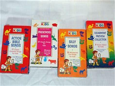lot of 6 cedarmont vhs carols school days 523 | 182108694 lot of 4 cedarmont kids videos vhs silly songs preschool