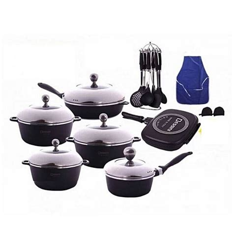 buy dessini  piece die cast aluminum cookware set