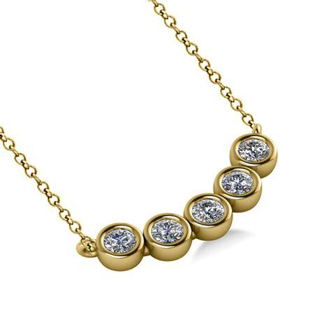 Bezelset Fivestone Diamond Pendant Necklace 14k Yellow. Blue Stud Earrings. Artisan Bracelet. Diamond Bangle Bracelet White Gold. Three Stone Pendant. Ivory Bangles. Animal Necklace. Party Bracelet. Minimal Necklace