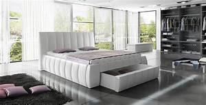 Lit Design COLISEE 140 Cm Avec Sommier Et Coffre