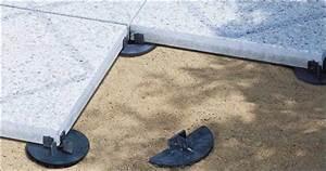 Dachterrasse platten im splittbett fr25 hitoiro for Stelzlager terrasse