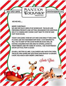free printable letter to and from santa With santa claus letter online