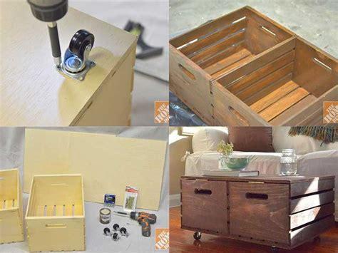 Base Per Lada Da Tavolo by Diy Wooden Crates Storage Ottoman Usefuldiy