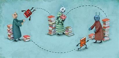 Illustration Books Swap Portfolio Exchange Tips Sharing