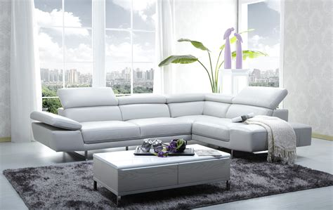 White Modern Sectional Sofa Luxury Furniture Modern Grobania