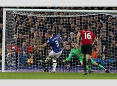 Everton 1 Manchester United 1 Fellaini the villain as Baines scores late equalising penalty