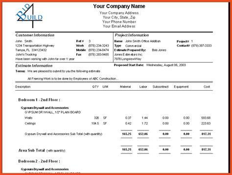 contractor bid contractor bid template bid sheet template bid template kb png construction bid