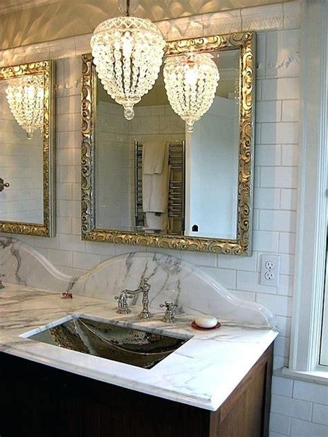 beautiful bathroom crystal chandelier   http