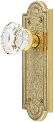belmont door set  astoria crystal glass knobs house  antique hardware