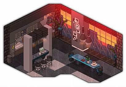 Kitchen Modern Habbo Cutiezor Deviantart Pixel Rooms
