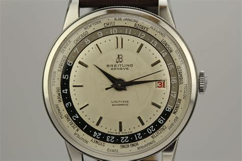 1950 Breitling Unitime World Time Watch For Sale - Mens ...