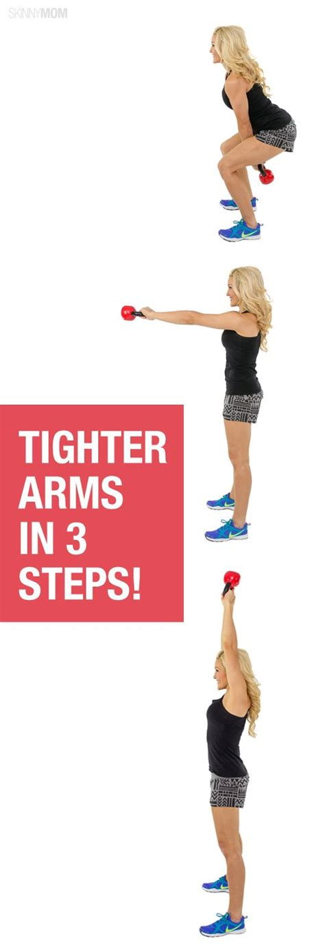 exercises kettlebell arms toned weight arm workout workouts bell exercise skinnymom fitness health keep