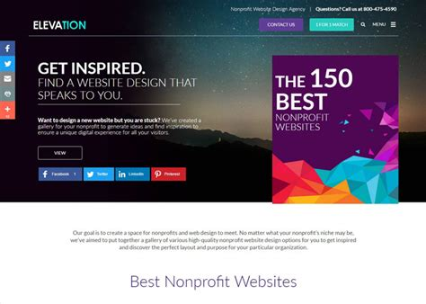 Design Websites by The 150 Best Nonprofit Websites Awwwards Nominee