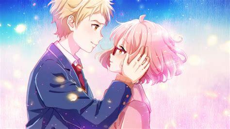 full hd wallpaper couple embrace pink hair happy petal