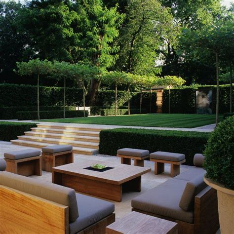 Patio Area by Stunning Landscaped Patio Area Landform Consultants