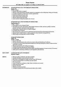 forklift operators resume samples velvet jobs With forklift operator resume template