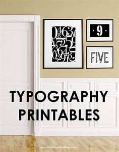 number typography printables free printables included With wall numbers and letters
