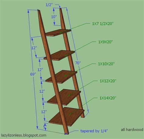 ladder shelf measurements